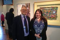 Jo Atherton with Museum Director Richard Doughty