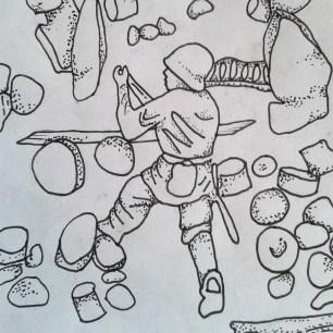 Flotsam field sketch - toy soldier