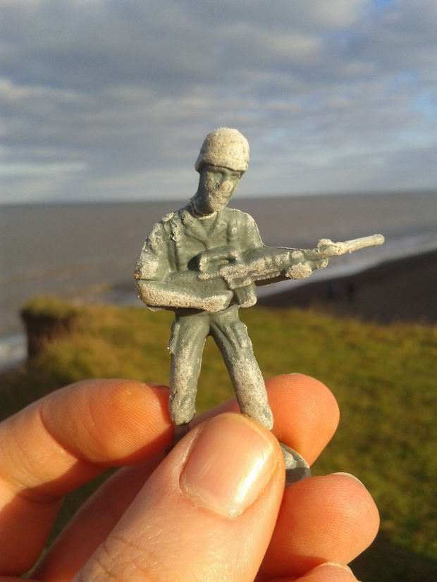 Yet another toy soldier washes ashore