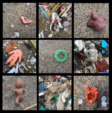 Compilation of beachcombing finds - 2014