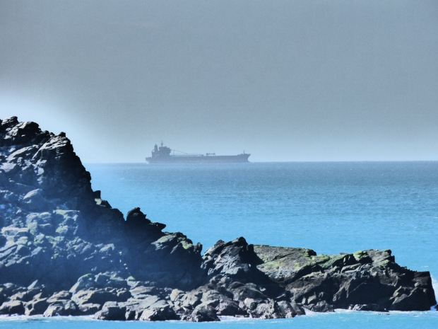 A tanker passes Cape Cornwall
