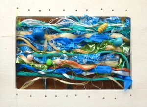 Work created during Jo Atherton's Flotsam Weaving workshop
